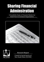 Sharing Financial Administration - NCOSS