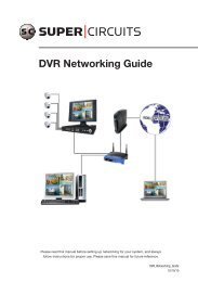 DVR Networking Guide - Supercircuits Inc.
