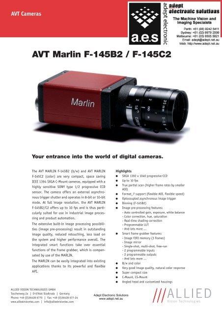 AVT MARLIN CAMERA WINDOWS 7 64BIT DRIVER DOWNLOAD
