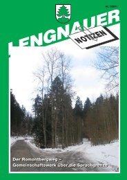 LN 2011-1.pdf - Einwohnergemeinde Lengnau BE