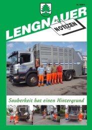 Sauberkeit hat einen Hintergrund - Einwohnergemeinde Lengnau BE
