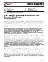 Robert Steinberg Appointed Vice President of Global Services at Elliott