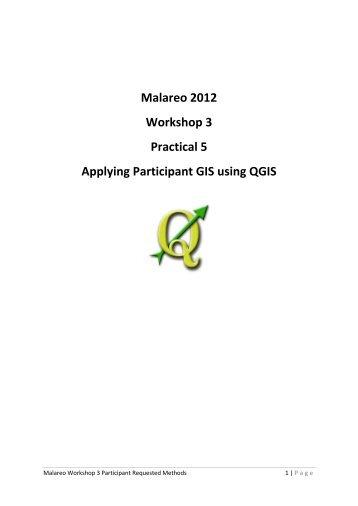 Applying Participant GIS using QGIS - Malareo
