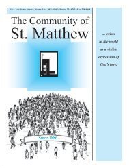 October 24, 2010 - St. Matthew's Parish
