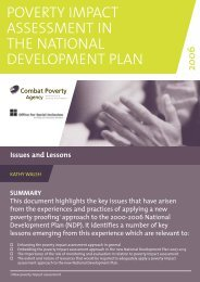 Poverty Impact Assessment in the National Development Plan (2006)