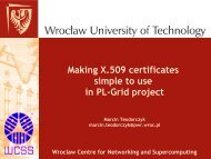 Wroclaw Centre for Networking and Supercomputing - Projekt PL-Grid