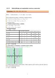 2.5.11 Další příklady na kvadratické rovnice a nerovnice