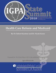 Health Care Reform and Medicaid - Institute of Government & Public ...