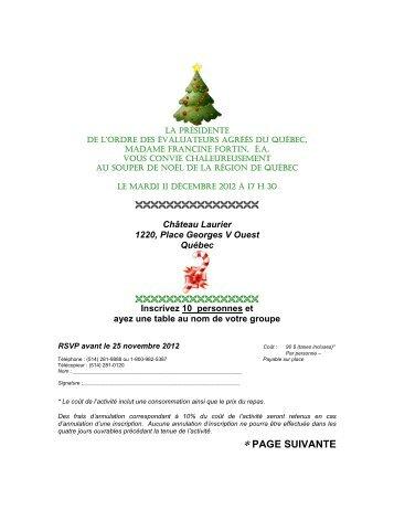 * PAGE SUIVANTE - Ordre des évaluateurs agréés du Québec