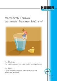 Mechanical / Chemical Wastewater Treatment ... - Hans Huber AG