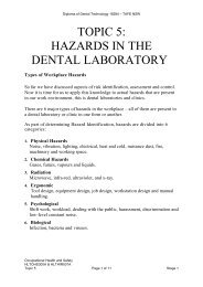 topic 5: hazards in the dental laboratory - Randwick College Wiki