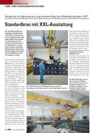 Standardkran mit XXL-Ausstattung