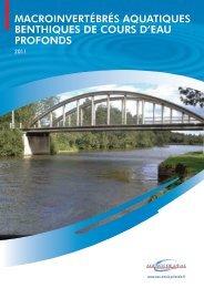 macroinvertébrés aquatiques benthiques de cours d'eau profonds