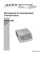 Инструкция по эксплуатации Счетные весы - KERN & SOHN GmbH