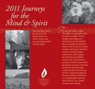 2011 Journeys for the Mind & Spirit - American Indian College Fund