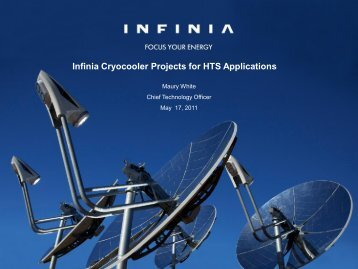 M. White Infinia Cryocoolers for HTS.pdf - High-Temperature ...