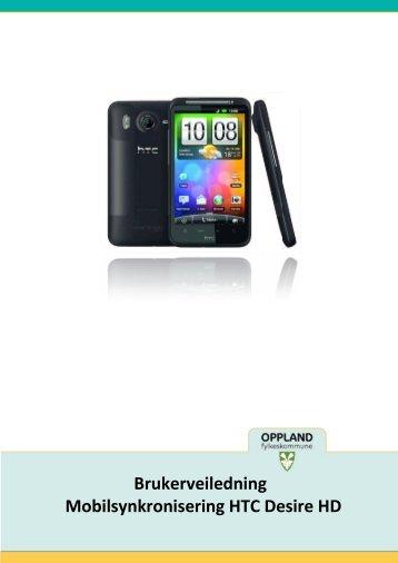 Oppsett av HTC Desire HD - Oppland fylkeskommune