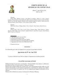 Compte rendu de réunion du 01 06 2010 - Alençon