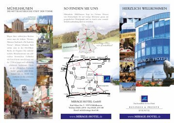 MIRAGE HOTEL Flyer - im MIRAGE-Hotel | MIRAGE HOTEL