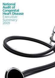 National Audit of Congenital Heart Disease Executive ... - HQIP