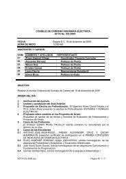 CONSEJO DE CARRERA INGENIERÍA ELÉCTRICA ACTA No. 032 ...