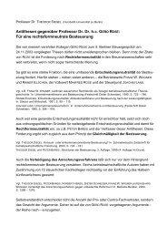 Statement Prof. Dr. Theodor Siegel - Berliner Steuergespräche eV