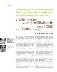 As diferenças de competitividade entre o litoral e o interior português
