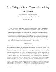 Polar Coding for Secure Transmission and Key Agreement