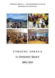 Výroční zpráva za rok 2009/2010 - Waldorfské lyceum Praha
