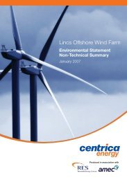 Lincs Offshore Wind Farm - European Investment Bank