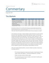 Weekly Market Commentary - Mariner Wealth Advisors