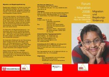 081019 Flyer Forum 2008.pub - Otto Benecke Stiftung eV