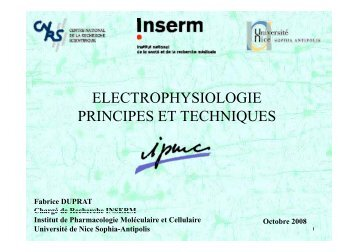 cours_electrophy_2008.pdf - IPMC - CNRS