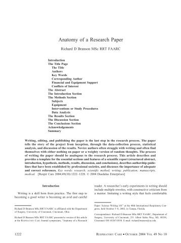 anatomy of a research paper