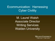 Ecommunication: Harnessing Cyber Civility M. Laurel ... - My Laureate