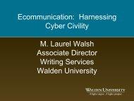 Ecommunication: Harnessing Cyber Civility M. Laurel ... - My Laureate