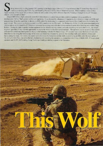 The Sapper Magazine April 2012 - This Wolf Bites - MineWolf
