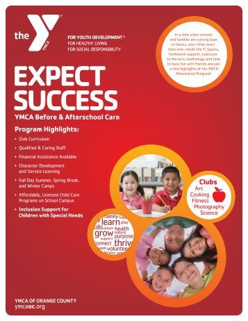 Afterschool Care - YMCA of Orange County