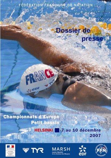 DP helsinki 2006 - Fédération Française de Natation