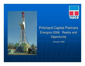 Pritchard Capital Partners - TESCO Corporation