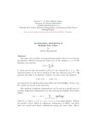 An elementary introduction to Multiple Zeta Values by ... - ICMAT