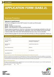 OLP Connect Data Application Form for Business ... - Legal & General