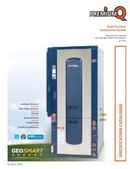 SPEC IFIC A TIO N C A TA LO G U E - GeoSmart Energy