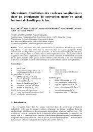 Mécanismes d'initiation des rouleaux longitudinaux dans un ...