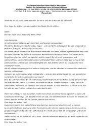 Predigt zum Stiftungsfest St Petri Döhren am 23 Juni 2013