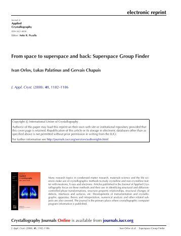 electronic reprint From space to superspace and back ... - CiteSeer