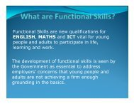 Functional Skills are new qualifications for ENGLISH, MATHS and ...