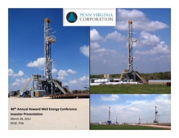 40th Annual Howard Weil Energy Conference Investor Presentation