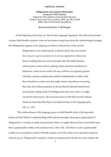 Wittgenstein essay uc essay format