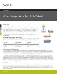 Technical note - Sybase